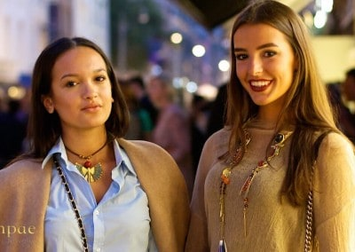 These two beautiful women on Vogue fashion night out in Amsterdam wearing precious jewelry designed by Danpae